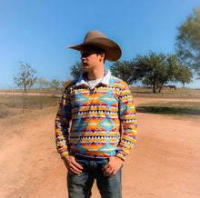 Load image into Gallery viewer, Yellow Aztec Pullover