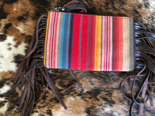 Load image into Gallery viewer, Cheetah/Serape Double Sided Clutch