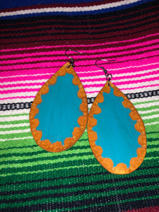 The Texas Leather Earrings