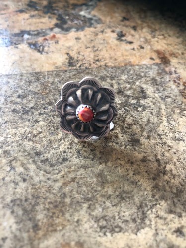 Coral Concho Ring