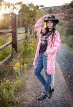 Load image into Gallery viewer, Neon Pink Aztec Cardigan