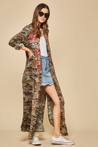 Camo Duster Dress