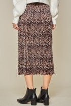 Load image into Gallery viewer, Leopard Pleated Skirt