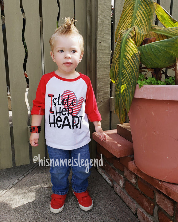 I Stole Her Heart Raglan - LIMITED AVAILABILITY - StarSailyrBoutique