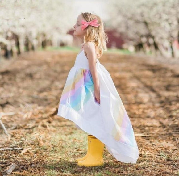 Flowing Rainbow Dress