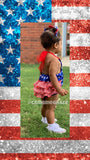 3pc Ruffles and Lace Patriotic Romper