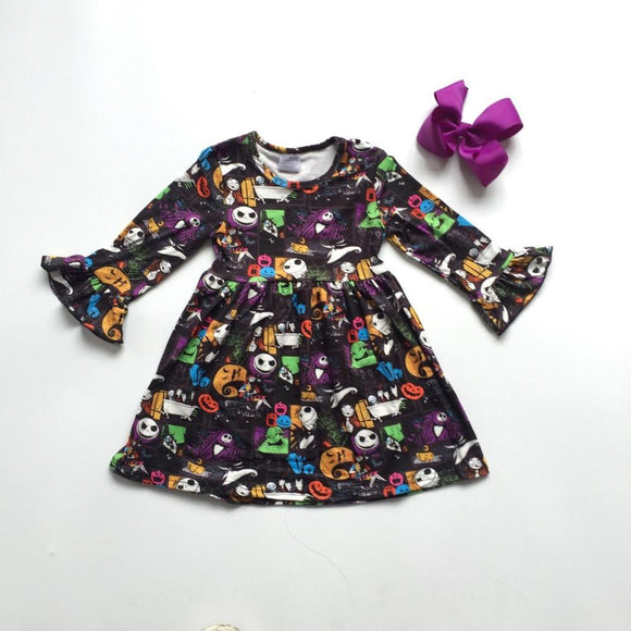 Dark Nightmare Before Christmas Milk Silk Dress