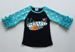 Blessed Raglan with Ruffles - StarSailyrBoutique