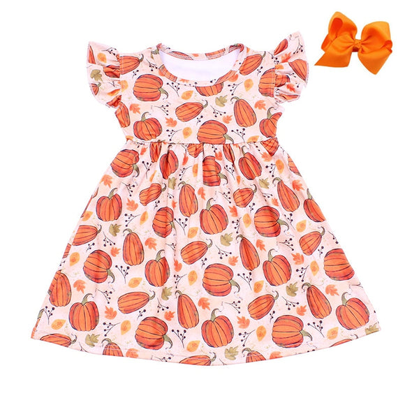 Pumpkin Milk Silk Dress