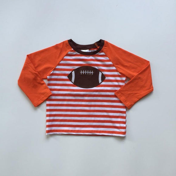 Striped Football Raglan