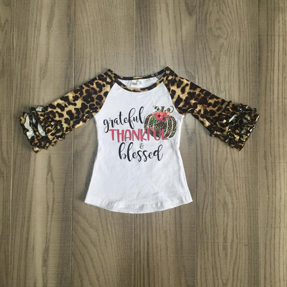Grateful Thankful & Blessed Raglan with Ruffles - StarSailyrBoutique