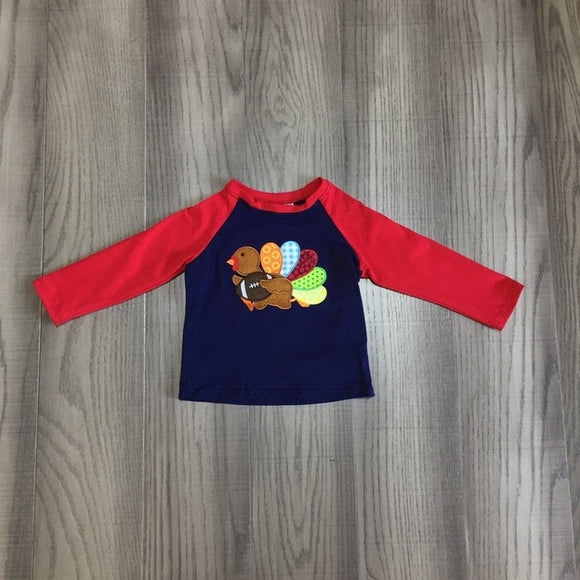 Red Football Turkey Raglan