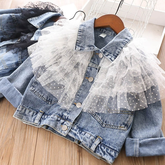 Denim Jacket with Lace - 3 Variations - StarSailyrBoutique