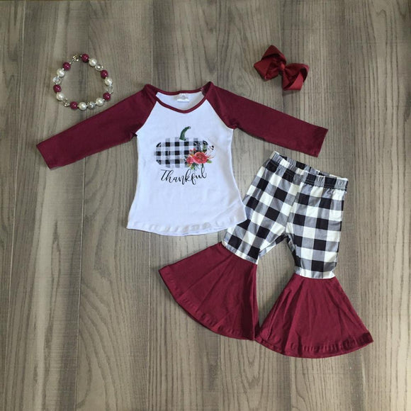 Thankful Plaid Set