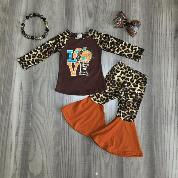 4pc Cheetah Print Pumpkin Love Set - StarSailyrBoutique