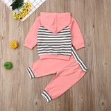 Hooded Striped Set - 2 Colors - StarSailyrBoutique
