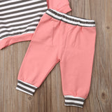 Hooded Striped Set - 2 Colors