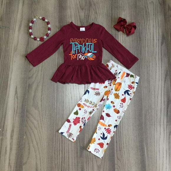 4pc Everyone is Thankful for ME Set - StarSailyrBoutique
