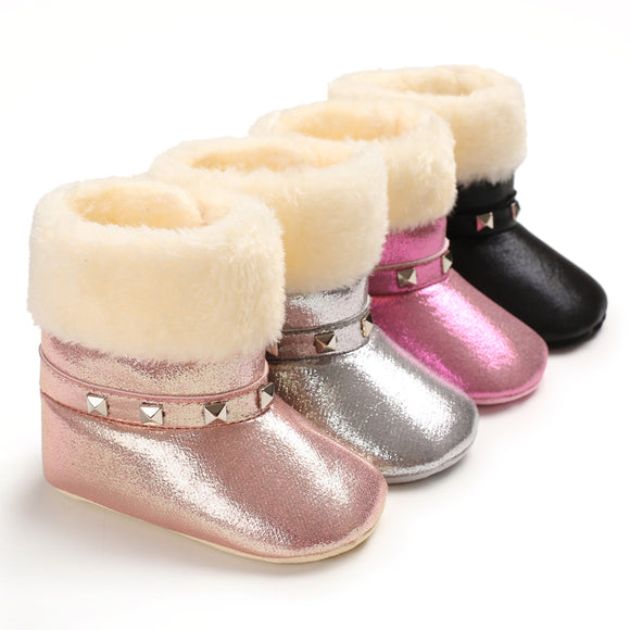 Faux Fur Studded Boots - StarSailyrBoutique
