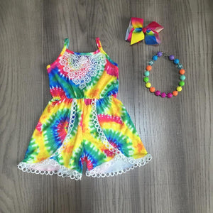 Tie Dye Rainbow Jumper with Accessories