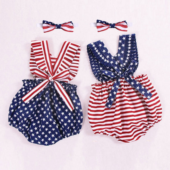 Backless Patriotic Romper - StarSailyrBoutique