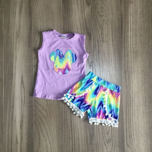 Minnie Mouse Tie Dye Set - StarSailyrBoutique