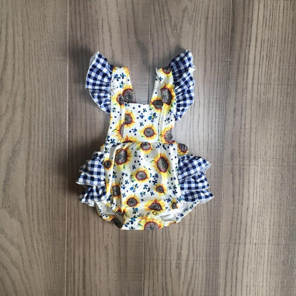 Sunflower Picnic Romper