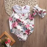Collared Floral Onesie - StarSailyrBoutique