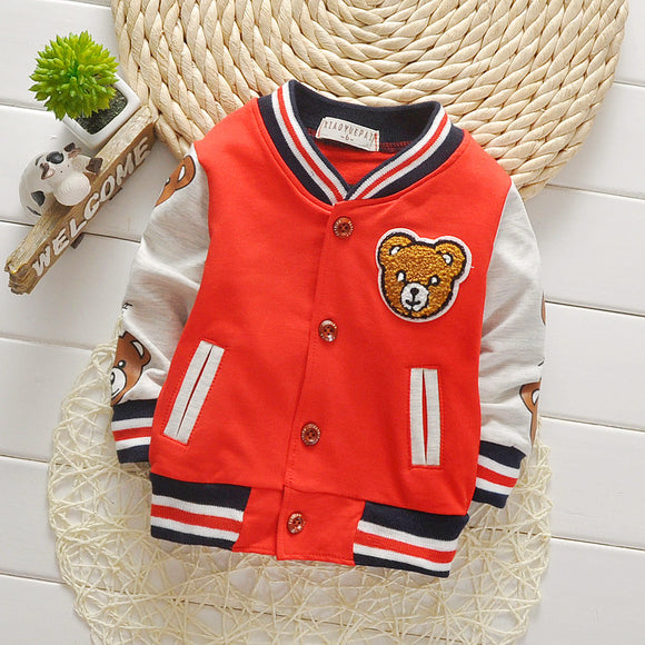 Bear Letterman Style Jacket - StarSailyrBoutique