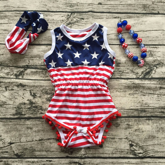 3pc Patriotic Romper Set