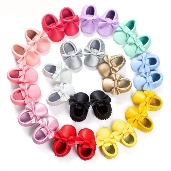 Soft Bottom Solid Moccassins - 22 Colors