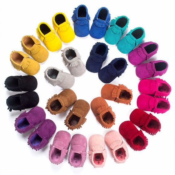 Faux Velvet Moccasins - 13 Colors