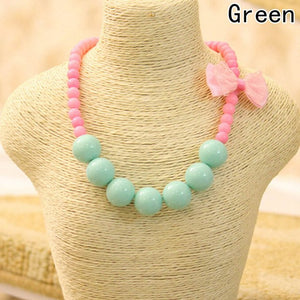 Pastel Bubblegum Necklace with Bow - 5 Variations