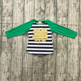 Golden Shamrock Raglan - LIMITED AVAILABILITY - StarSailyrBoutique