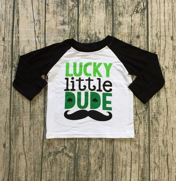 Lucky Little Dude Raglan - LIMITED AVAILABILITY - StarSailyrBoutique