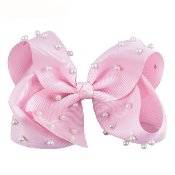 5in Bow with Pearls - 9 Colors