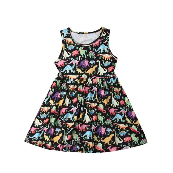 Girls Love Dinos Sleeveless Dress