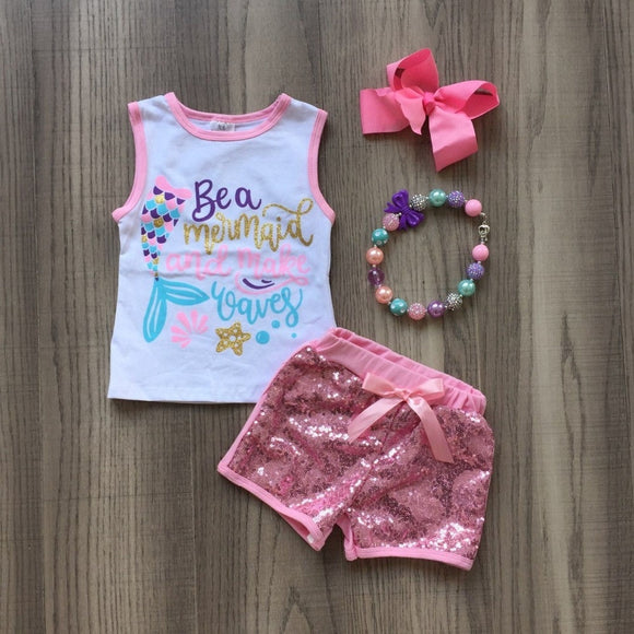 4pc Be a Mermaid Set - StarSailyrBoutique