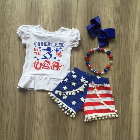 4pc Mermaid in the USA Set - StarSailyrBoutique
