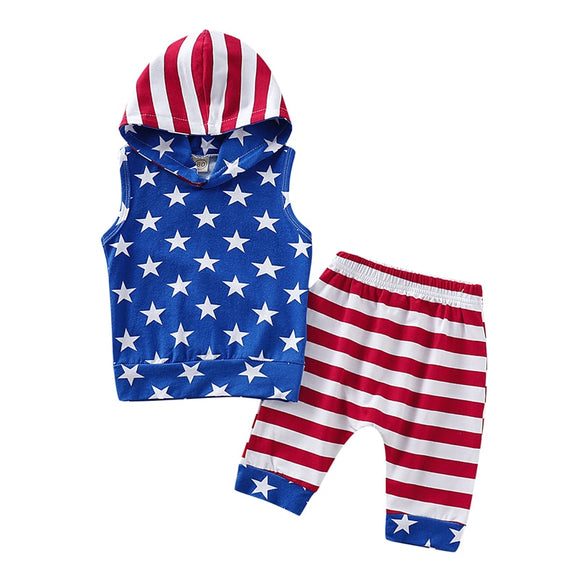 Hooded Independence Day Set - StarSailyrBoutique
