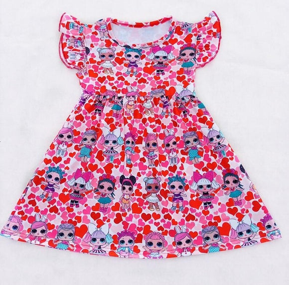 LOL Hearts Milk Silk Dress