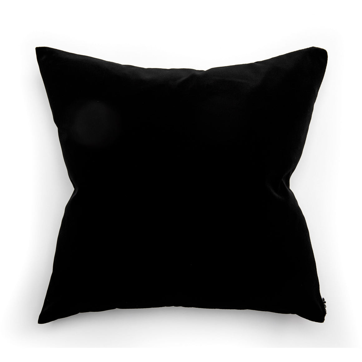 Modern Black Velvet Throw Pillow