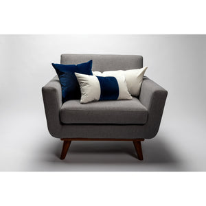 Blue Color Block Velvet Pillow Cover