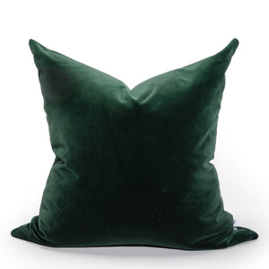 Modern Contemporary Blue Soft Italian Velvet Pillow Cover