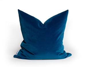 Modern Contemporary Blue Velvet Pillow Cover