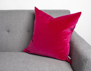 Modern Contemporary pink velvet pillow cover