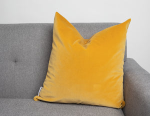 Modern Contemporary Yellow Velvet Pillow Cover
