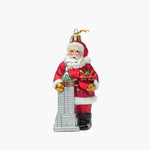 Santa with Empire State Building Ornament
