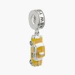 Empire Enamel Yellow Taxi Dangle Bead