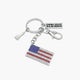 Sparkling Flag Key Chain